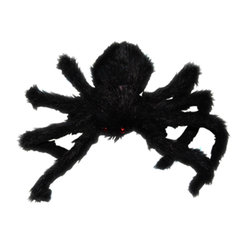 halloween props black large spider haunted house prop indoor outdoor giant spider for home party decorations - Giant Halloween Spider