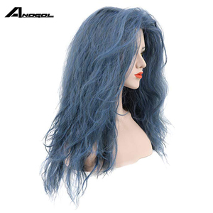 Image 2 - Anogol Brand New Witch of the Black Forestn Blue Curly Into the Woods Synthetic Cosplay Wig For Japanese Anime Costume Role Play