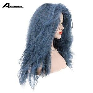Image 2 - Anogolยี่ห้อใหม่แม่มดสีดำForestn Blue Curly Into The WoodsวิกผมCosplayสังเคราะห์ญี่ปุ่นอะนิเมะบทบาทเล่น