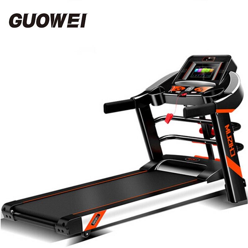 Électrique Tapis Roulant Pliant Entraînement à domicile Équipement Marche La Machine Ménage Machine En Marche Wi-Fi/vidéo Fitness Gym Crossfit
