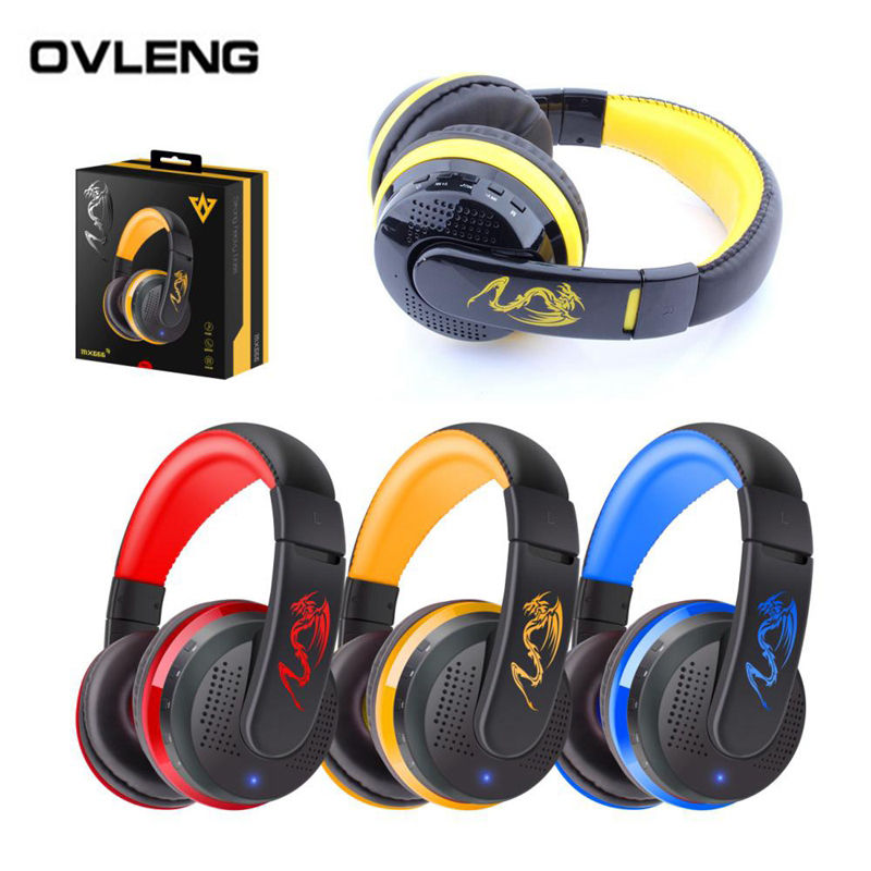 OVLENG MX666 Bluetooth 4.0 Stereo Headset Wireless Headphones with Mic Support FM & TF Card for iPhone Android Phone ovleng wireless bluetooth 4 0 headphones foldbale stereo headset with microphone ovleng v8 3 for phone handfree calls music