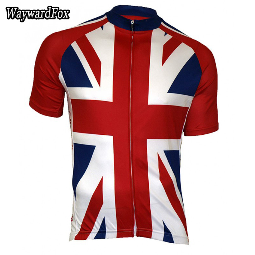 46c5f423e NEW cycling jersey uk Flag National ENGLISH pro team clothing Great Britain  bicycle exercise wear ropa cycling Wear WaywardFox-in Cycling Jerseys from  ...