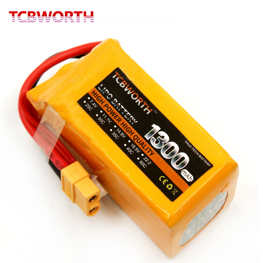 6S 22.2V 1300mAh 40C-80C RC High Rate LiPo battery For RC Helicopter Airplane Car Boat Quadrotor RC Li-ion battery TCBWORTH 1300mah li ion battery