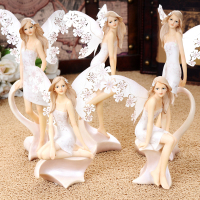 European Angel Ornaments Living Room Decorations Ornaments cute Angel For Home Decoration Accessories Fairy Garden Miniatures