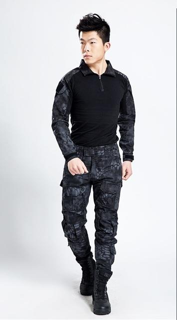 Envío libre, negro marca de calidad ejército juego de la rana, táctico militar uniforme multicam hombres conjuntos, acu, cp, mandrake de combate