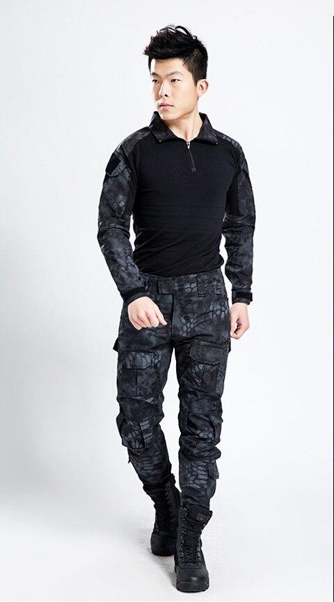 Livraison gratuite, costume de grenouille armée de qualité de marque noire, uniforme militaire tactique multicam hommes ensembles, acu, cp, mandrake combat