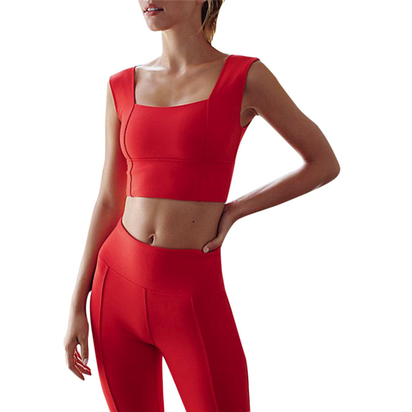 Aliexpresscom  Buy Women Girls Sexy Women Sports Bras Red Workout Gym Activewear -5766