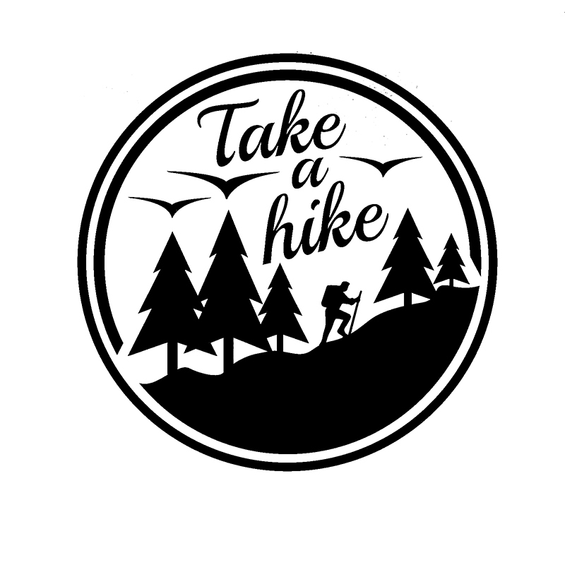 Car styling take a hike car caravan camper van laptop camping adventure vinyl decal car sticker in car stickers from automobiles motorcycles on