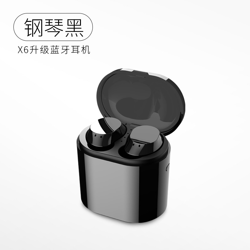 цена на X5 Wireless Binaural Bluetooth Headset Mini Earbud In-ear Sports Headset Can Charge The Phone Hi-Fi Touch 4D Sound Waterproof