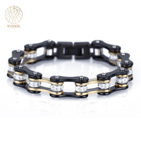 Top Quality Masculine Men S Bicycle Link Bangles 316L Stainless Steel Jewellery Manly Motorcycle Chain Bracelets
