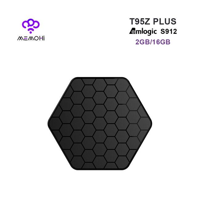 MEMOBOX T95Z Plus Android 7.1 Smart TV Box Amlogic S912 Octa core support BEST Dual band WiFi BT4.0 HEVC 2GB 16GB 4K Set-top BOX