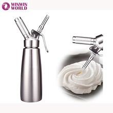 Hohe qualität 500 ml durable edelstahl n2o creme whippers metall schlagsahne dispenser siphon dessert tools gute verpackung