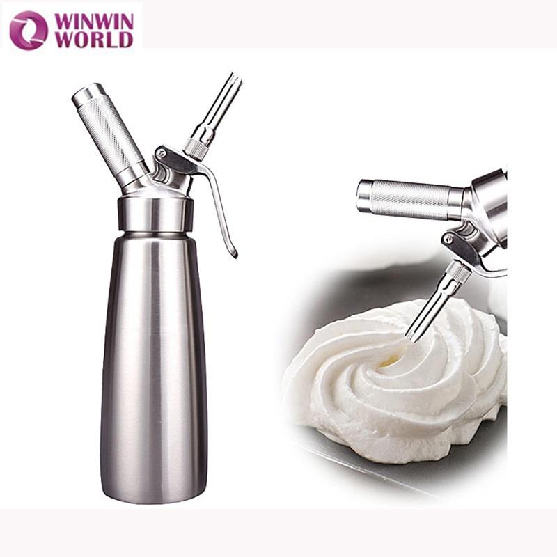 SIVAPHE 500 ml In Acciaio Inox Resistente N2O Crema Whipper Metallo Panna montata Dispenser Sifone Dessert, Utensili e Accessori Nitrus Bottiglia Cucina