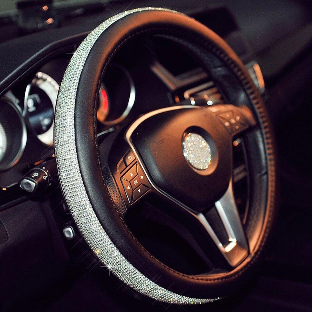С красивые кристаллы PU Классическая упаковка модные автомобильные аксессуары оплетка универсальное украшение