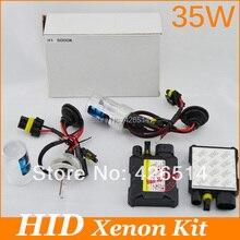 ¡ Nuevo! el envío libre 35 W hid Xenon Kit 2 unids lastre H1 H3 H4 H7 H8 H11 9005 9006 880/1 solo haz 3000 K-12000 K para el coche faro