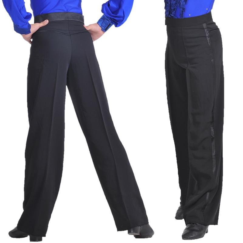 Image 5 - Professional Men Black Latin Dance Pants Boys Adult Satin Ballroom Dance Pants Salsa Tango Rumba Samba Cha Cha Latin Trouserspants anklespants convertiblepants latex -