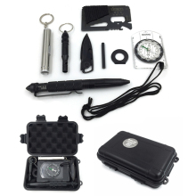 10 in1 Professional Multi-function Survival Emergency Kits Outdoor Travel Camp Flashlight