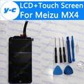 Для Meizu MX4 ЖК-Дисплей + Сенсорный Экран Новый Прибыл Дигитайзер Стеклянная Панель Замена Для Meizu Mx4 1920*1152 5.36 ''Phone