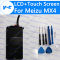 For Meizu MX4 LCD Display+Touch Screen New Arrived Digitizer Glass Panel Replacement For Meizu MX4 1920*1152 5.36'' Phone