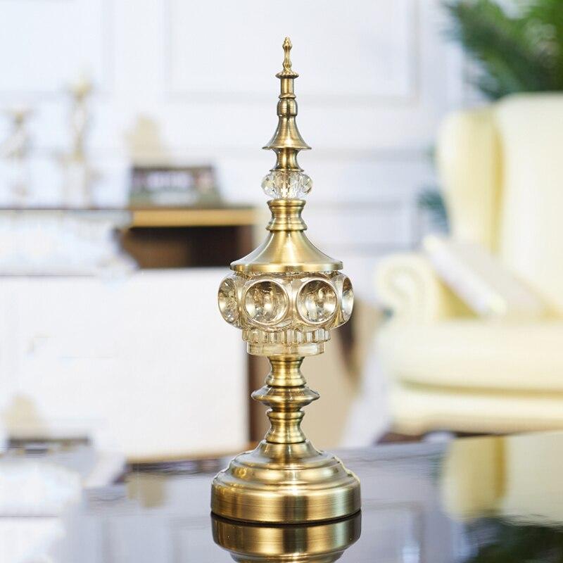 Aqumotic 1 pc grand ornement support moderne Unique décoratif étagère verre décor grande décoration pour salon Table décor Chic