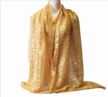 1pc Fashionable Women Muslim Shimmer Visose Hijabs Scarf Female Glitters Lurex Long Shawl Pashmina Sequins Headscarf 180x68cm