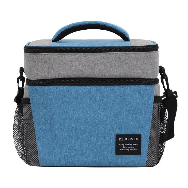 Portable Double sacs à Lunch sacs à Lunch thermique pour les femmes multifonction nourriture pique-nique glacière boîte fourre-tout isolé conteneur de stockage