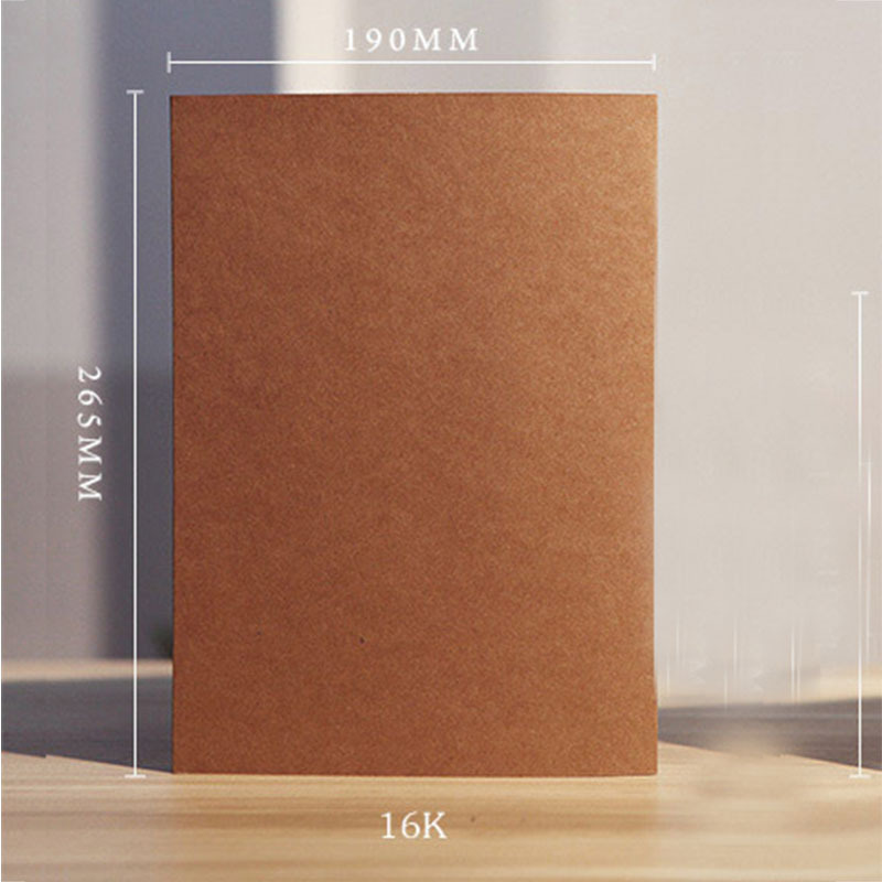 Art supplies A4 Blank sketchbook Diary for Drawing graffiti 56 sheets kraft notebook paper Sketch Book Office School Supplies professional painting paper 160g a4 drawing paper blank sketch 24 sheets office school supplies painting art supplies ass034