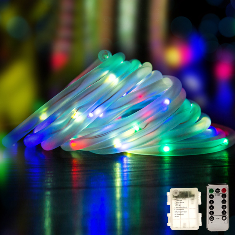 Christmas Led String Lights.Us 6 51 61 Off String Light Led Hollow Pipe Copper Wire Christmas Led Lights Outdoor String Lights Lamp For Wedding Party Christmas Tree In Led