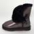 Frete grátis clássico do couro à prova d' água genuína botas de neve de couro sapatos de inverno para as mulheres