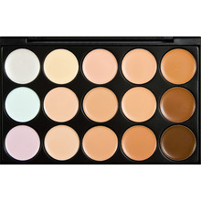 New Professional 15 Color Facial Concealer Skin Smooth Tools Charming Blush Foundation Cream Palette 2 Type Available