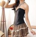 Burlesque corset negro, corset mujeres, el gótico corsé, corse sexi, corsé sml xl xxl