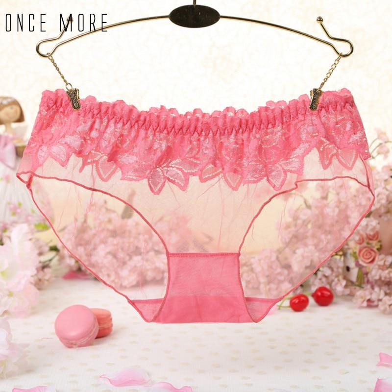 Women Girls Summer Breathable Sexy Lace Low Waist Thongs Underwear Briefs Knickers Lingerie