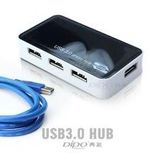 Высокоскоростной USB 3,0 концентратор 4 порта сплиттер адаптер для ПК Ноутбук Периферийные устройства