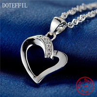 Silver Heart Necklace Fashion High Quality 100 Sterling Silver Woman Charm Pendant Heart Necklace Jewelry