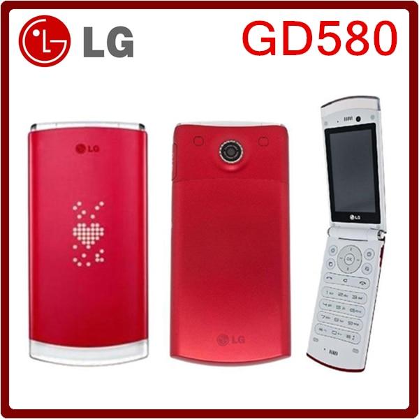 Цена за GD580 Оригинал Разблокирована LG GD580 800 mAh 3.15MP Внешний Скрытый Oled дисплей Мобильного Телефона Бесплатная Доставка