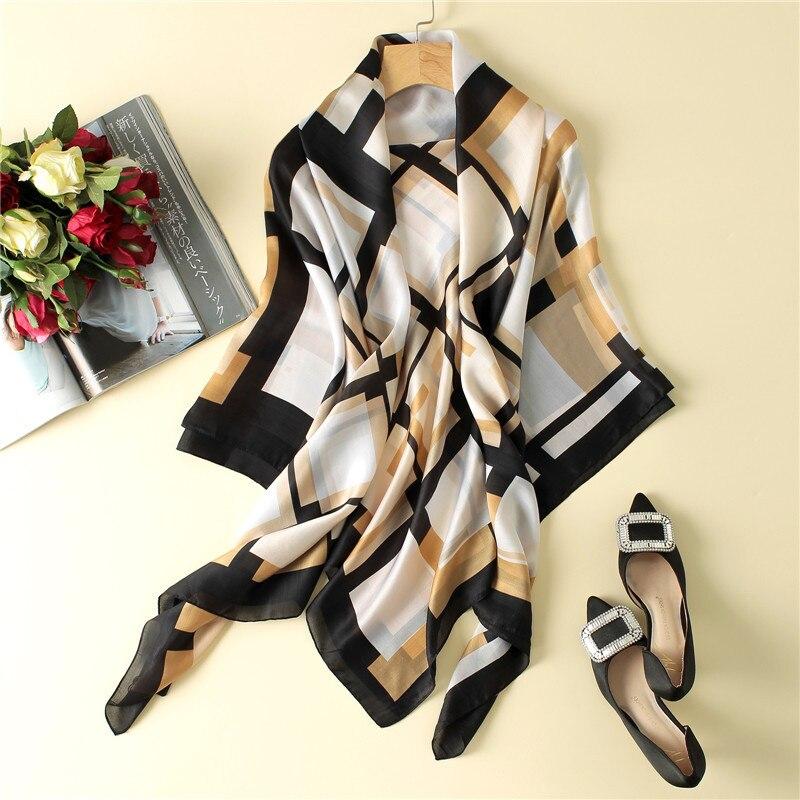 Peacesky бренд Женская мода Шелковый шарф квадратный Шарфы для женщин шаль Обёрточная бумага высокое качество печати пляж Шарфы для женщин раз... ...