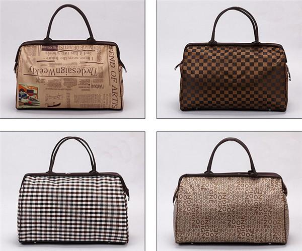 Travel Bags 2016 Fashion Waterproof Vintage Large Capacity Quality Luggage Duffle Bags Casual Handbag Women Travel Bags YA0192 (5)