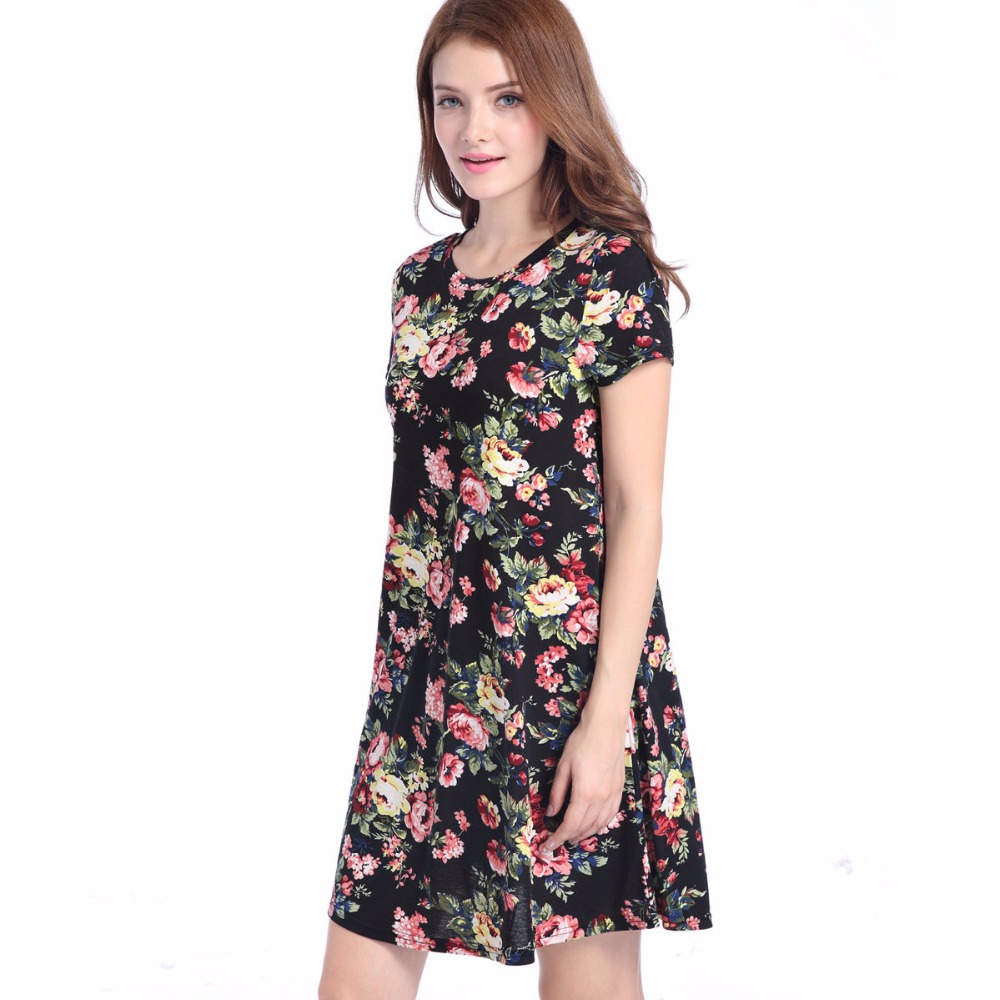 2019 Top Selling Woman Dress Sommer Elegant Blomster Vintage - Dametøj - Foto 2