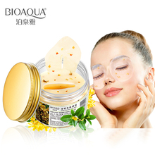 BIOAQUA Gold Osmanthus Eye Patches Mask Collagen Gel Protein Sleep Patche Remover Dark Circles Bag care 80Pcs/ Bottle