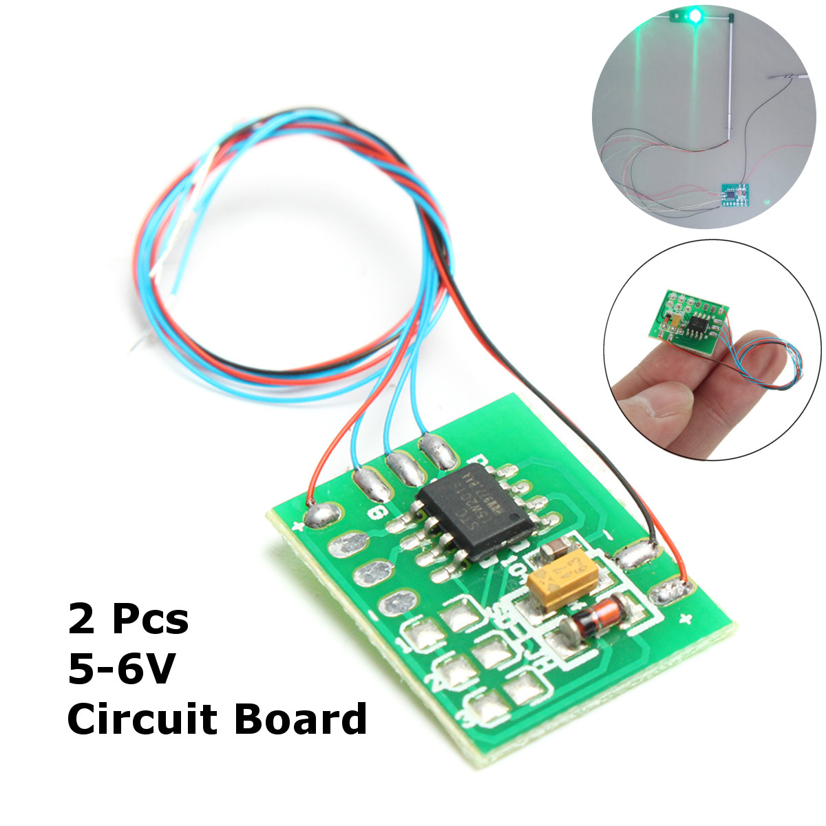 2pcs Diy Scale Construction Sand Table Model Traffic Light Signal Led Circuit Board Ho Train Railway Miniatures In Building Kits From Toys