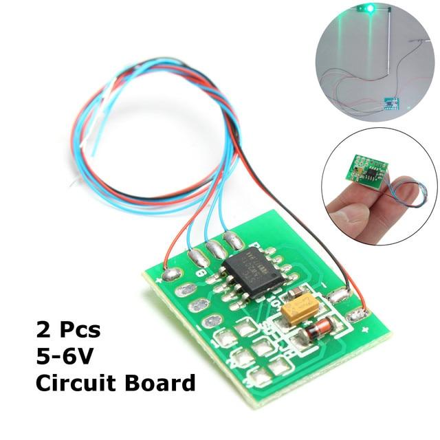 2Pcs DIY Scale Construction Sand Table Model Traffic Light Signal Model LED  Circuit Board HO Scale Train Railway Miniatures
