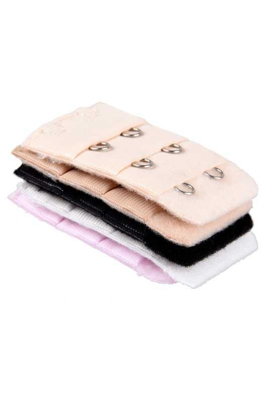 5 Pcs 2 Hooks Bra Genişletici Askı İlavesi Soluk Pembe Bej Beyaz Bayanlar için