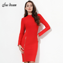 sleeve Red Dress Bandage
