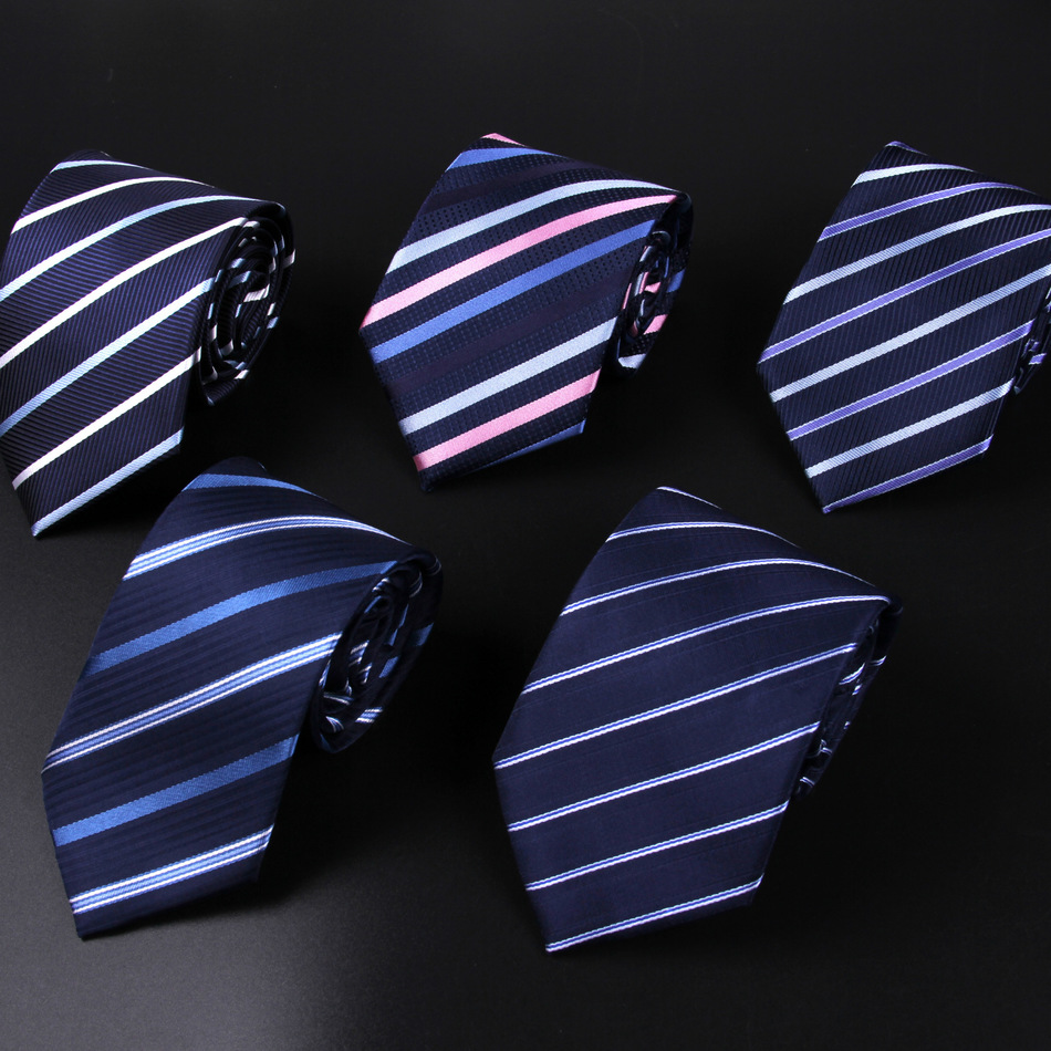 Newest Men's Tie Neckties Brand Accessories Polyester Cravats Tie Business Suits Tie Cravate Narrow Skinny Neckties Striped Ties