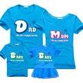 Семейные сопоставления одежду мать и дочь платья одежда матери, отца и ребенка случайные короткие футболки папа сын наряды БМД