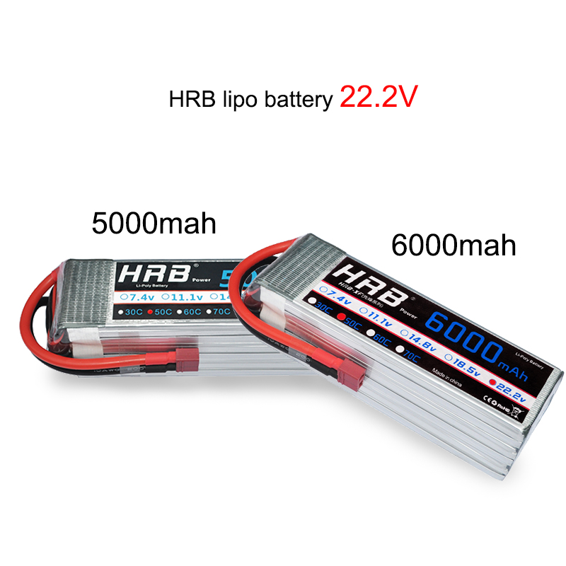 Image 5 - HRB Lipo 3S 4S 11.1V 14.8V 5000mah 2S 6S 7.4V 22.2V Battery 2200mah 2600mah 3300mah 6000mah T For TRAXXAS 1:10 RC Car FPV Boat-in Parts & Accessories from Toys & Hobbies