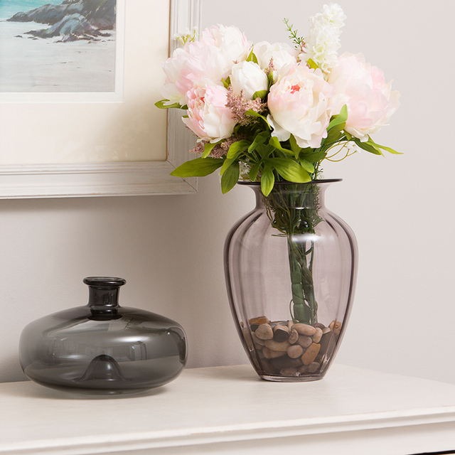 DONGLIN Newest Modern simple living room model room decoration flower arrangement flower hydroponics transparent glass florets