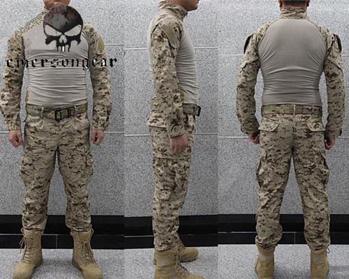 Emerson Wearable Airsoft Combat Uniform Suit Military Tactical Training Shirts&Pants Outdoor Hunting Shooting Clothing Set hot sale gen2 official tactical military training uniform combat clothing pant