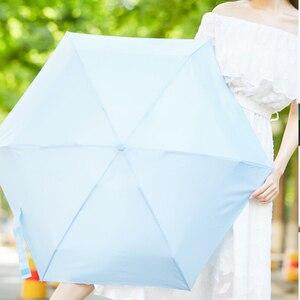 Image 5 - Youpin Umbracella סיבי Ultralight שמש גשום מטרייה בחום Windproof מטרייה קטן במיוחד נייד מטרייה