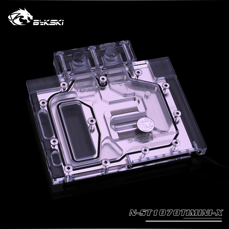 N-ST1070TIMINI Bykski watercooling gpu block for ZOTAC <font><b>GeForce</b></font> <font><b>GTX1070TI</b></font> 8GB MINI gpu cooler ,Sync motherboard 3pin header image